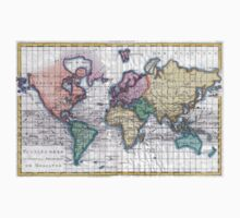 Vintage Map of The World (1780) T-Shirt