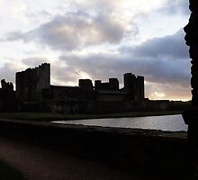 Caerphilly Castle at Sunset by Creativity for Sanctuary for Kids