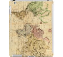 Vintage Map of The World (1831)  iPad Case/Skin