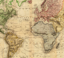 Vintage Map of The World (1831)  Sticker