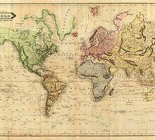 Vintage Map of The World (1831)  by BravuraMedia