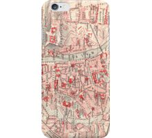 Vintage Map of Wurzburg Germany (1905) iPhone Case/Skin