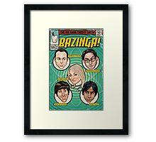 BAZINGA! Comic book Cover Poster Framed Print
