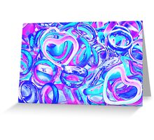 abstract colorful rings as background Greeting Card