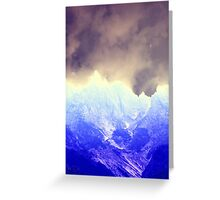 abstract mountain Greeting Card