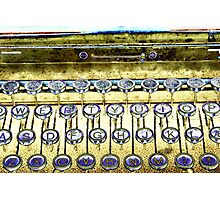 abstract detail of an old typewriter Photographic Print