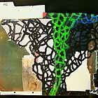 green volcan collage by donnamalone