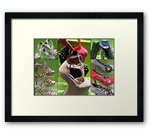 SHOE COLLAGE Framed Print