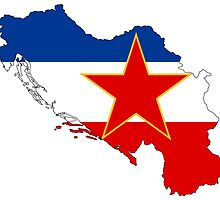 Flag-map of Yugoslavia by nikowned
