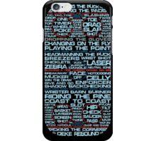 Ice Hockey Rink Typographic  iPhone Case/Skin