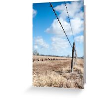 Run The Wire Greeting Card