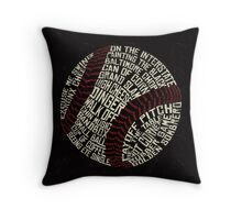 Baseball Slang Words Calligram Throw Pillow