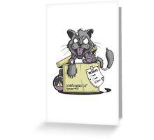 Schrödinger Cat Greeting Card