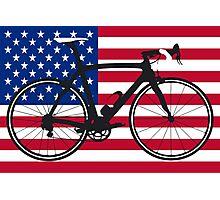 Bike Flag USA (Big - Highlight) Photographic Print