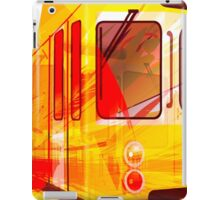 Yellow Subway Background iPad Case/Skin