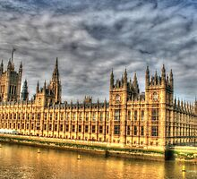 The Tower of Big Ben & the Houses of Parliament in London  by Michael Matthews
