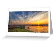 Newtown Quay Sunset Pano Greeting Card