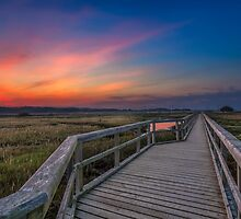 Boardwalk Sunset by manateevoyager