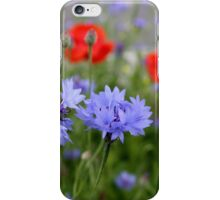 cornflowers and poppies iPhone Case/Skin