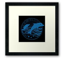 Message from Dolphins Framed Print