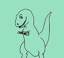 T-rex Playing an Ukulele by vulpixie4