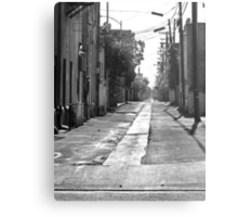 Rural Small Town Alley Metal Print
