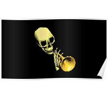 Skull Trumpet Poster