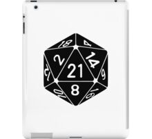 21 Sided 21st Birthday D20 Fantasy Gamer Die iPad Case/Skin