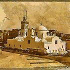 A digital painting of the New Mosque (Jamaa el-Jedid), Algiers, in the 19th century. by Dennis Melling