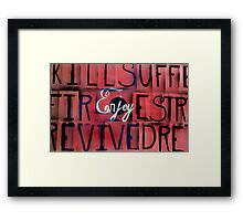 Rules of the jungle Framed Print