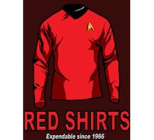 Star Trek - Expendable Red Shirts Photographic Print