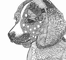 Beagle Puppy abstract by BCallahan