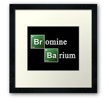 Bromine and Barium Periodic Table Chemistry Elements Framed Print