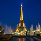 Eiffel Tower by night  by Rob Hawkins