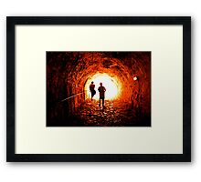 Into the void! Framed Print