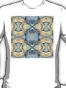 Blue And Gold Pattern T-Shirt