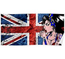Digitally Enhanced Amy Winehouse Drawing Poster