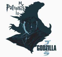 My Patronus is Godzilla by Drewalquadrato