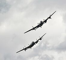 two lancasters saying hello by BILLBARNES