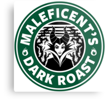 Maleficent's Dark Roast Metal Print