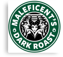 Maleficent's Dark Roast Canvas Print