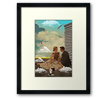 Vintage Modern Collection -- All Eyes On Me Framed Print