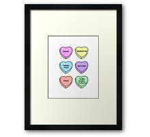 Twerk Hearts Framed Print