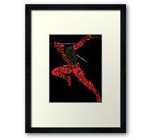Deadpool Typography Framed Print