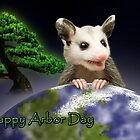 Arbor Day Opossum by jkartlife