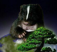 Arbor Day Skunk by jkartlife