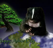 Arbor Day Skunk by jkartlife