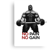 Barbell Hulk Canvas Print
