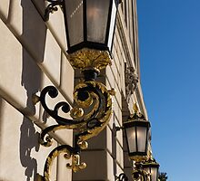 Gilded Lanterns - Washington, DC Facades - Federal Triangle Neighborhood by Georgia Mizuleva