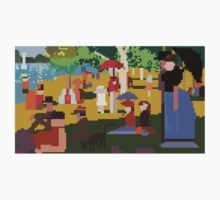 Pixel Sunday Afternoon on La Grande Jatte by bigpinkrobots